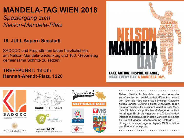 Nelson Mandela Tag am 18. Juli 2018 um 18 Uhr