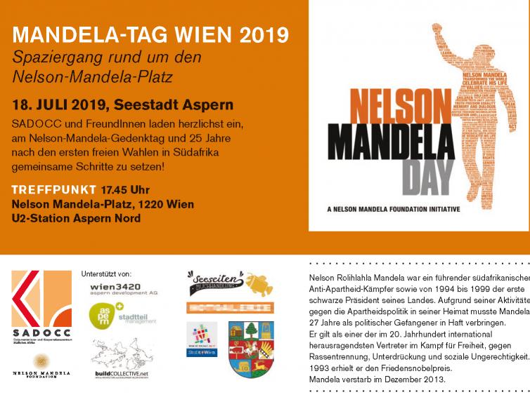 Nelson Mandela Tag am 18. Juli 2019 um 17.45 Uhr